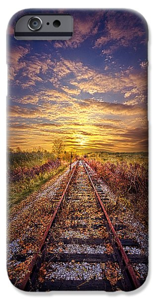 Railway iPhone Cases - Stories to be Told iPhone Case by Phil Koch