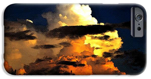 Summer Storm iPhone Cases - Storm at dusk iPhone Case by David Lee Thompson