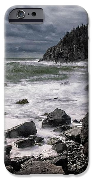 Storm at Gulliver's Hole iPhone Case by Marty Saccone