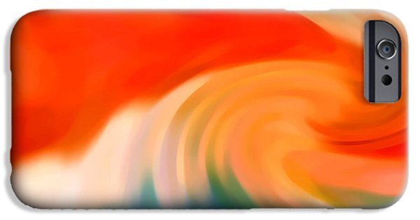 Abstract Digital iPhone Cases - Storm at Sea 3 iPhone Case by Amy Vangsgard