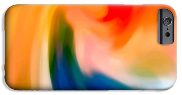 Abstract Movement iPhone Cases - Storm at Sea Square 1 iPhone Case by Amy Vangsgard