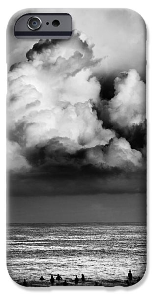 Storm iPhone Cases - Storm brewing over Pipeline iPhone Case by Sean Davey
