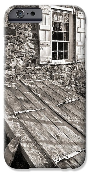 Storm Cellar and Window iPhone Case by Mark Miller