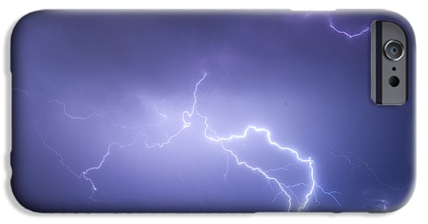 Lightning Photographer iPhone Cases - Storm Chase Six Twenty Eight Thirteen iPhone Case by James BO  Insogna