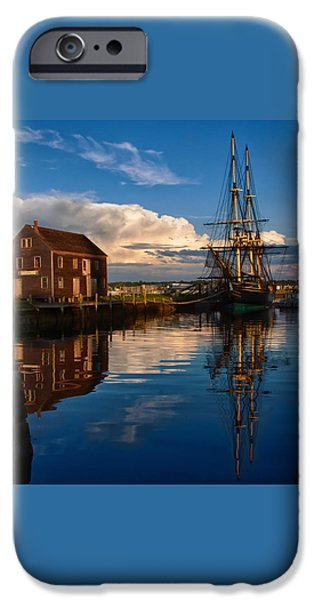 Tall Ship iPhone Cases - Storm clearing Friendship iPhone Case by Jeff Folger