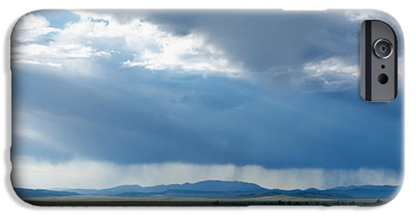 Storm iPhone Cases - Storm Cloud Over A Landscape, Weston iPhone Case by Panoramic Images