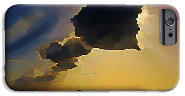 Halifax Art Work iPhone Cases - Storm Cloud over Calm Waters iPhone Case by John Malone