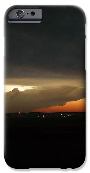 Storm Cloud over Williston iPhone Case by Jeff  Swan