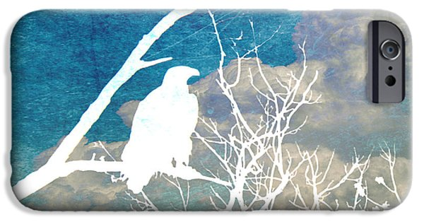 Drawing Of Eagle iPhone Cases - Storm Clouds Brewing iPhone Case by Nomad Art And  Design