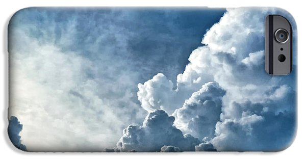 Storm iPhone Cases - Storm clouds iPhone Case by Carolyn Derstine