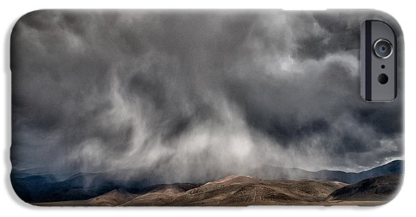 Storm iPhone Cases - Storm Clouds iPhone Case by Cat Connor