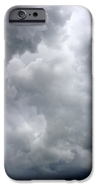 Bad Weather iPhone Cases - Storm clouds iPhone Case by Les Cunliffe