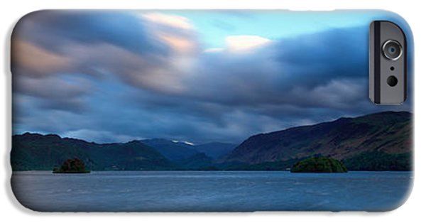 Storm iPhone Cases - Storm Clouds Over A Lake, Derwent iPhone Case by Panoramic Images