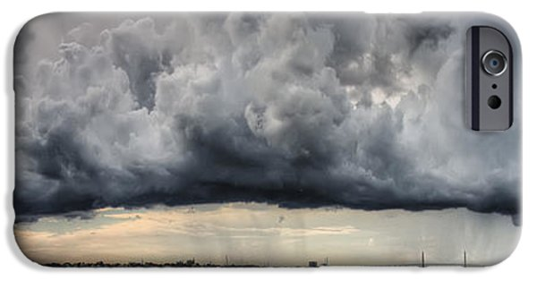 Storm iPhone Cases - Storm Clouds over Charleston South Carolina iPhone Case by Dustin K Ryan
