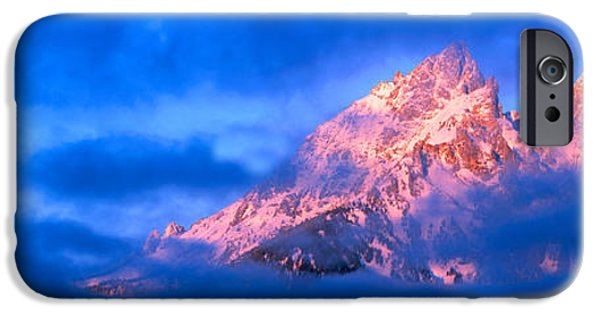 Winter Storm iPhone Cases - Storm Clouds Over Mountains, Cathedral iPhone Case by Panoramic Images