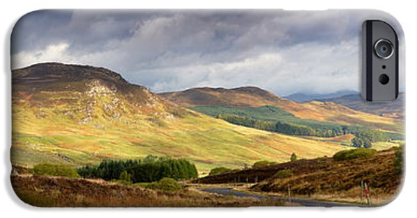 Autumn iPhone Cases - Storm clouds over the Glen iPhone Case by Jane Rix