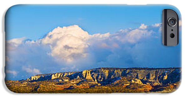 Storm iPhone Cases - Storm Clouds Over White Mesa, San Juan iPhone Case by Panoramic Images