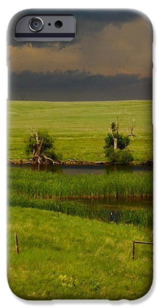 Storm Crossing Prairie 1 iPhone Case by Robert Frederick
