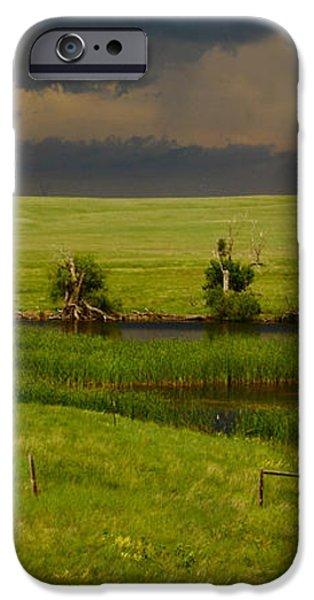 Storm Crossing Prairie 1 iPhone Case by Robert Frederick