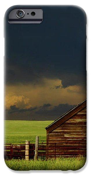 Storm Crossing Prairie 2 iPhone Case by Robert Frederick