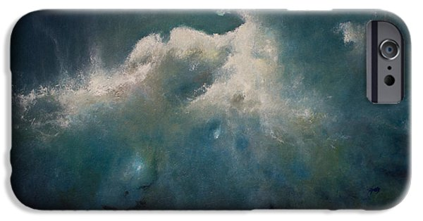 Recently Sold -  - Abstract Expressionist iPhone Cases - Opt.28.14 Storm iPhone Case by Derek Kaplan