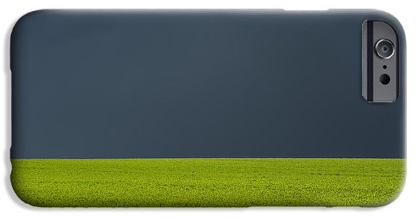 Crops iPhone Cases - Storm Field Abstract iPhone Case by Tim Gainey