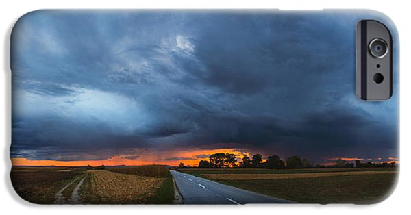 Field. Cloud iPhone Cases - Storm is coming iPhone Case by Davorin Mance