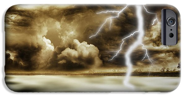 Dark Skies iPhone Cases - Storm iPhone Case by Les Cunliffe