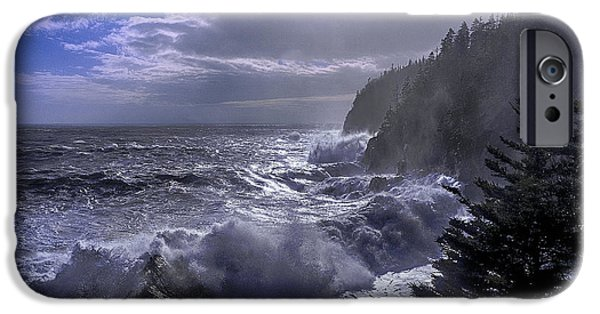 Quoddy Head State Park iPhone Cases - Storm Lifting at Gullivers Hole iPhone Case by Marty Saccone