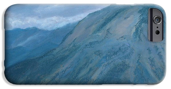 Clouds Pastels iPhone Cases - Storm Off Trail Ridge iPhone Case by Jenny Armitage
