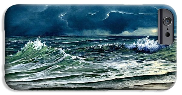 Turbulent Skies iPhone Cases - Storm Off Yucatan Mexico iPhone Case by Lynne Wright