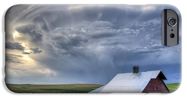 Crops iPhone Cases - Storm on Jenkins Rd iPhone Case by Latah Trail Foundation