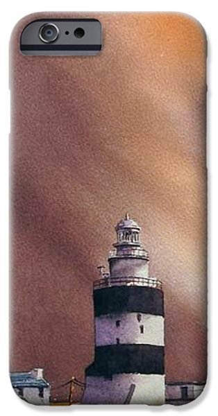 Abstract Seascape iPhone Cases - Storm On The Hook iPhone Case by Roland Byrne