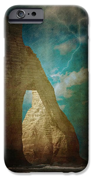 Storm over Etretat iPhone Case by Loriental Photography