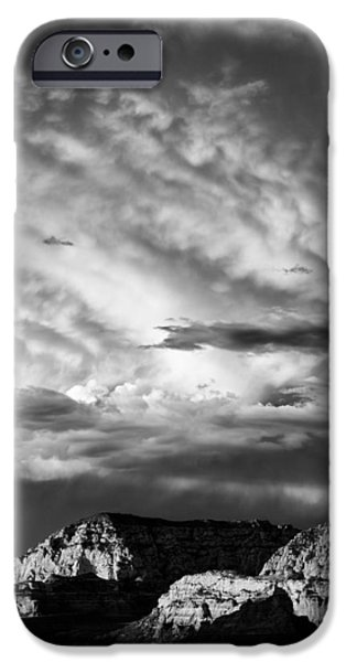 Stormy Weather iPhone Cases - Storm over Sedona iPhone Case by Dave Bowman