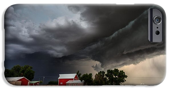Turbulent Skies iPhone Cases - Storm over the Farm iPhone Case by Steven Reed