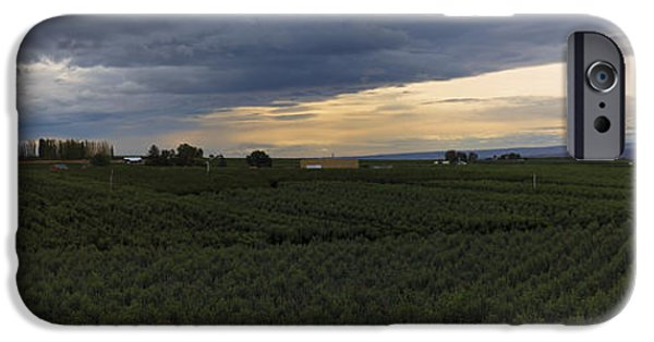 Yakima Valley iPhone Cases - Storm over the Yakima Valley iPhone Case by Mike  Dawson