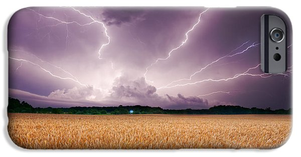 Recently Sold -  - Buildings iPhone Cases - Storm over wheat iPhone Case by Alexey Stiop