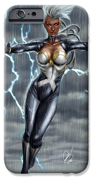 X Men iPhone Cases - Storm iPhone Case by Pete Tapang