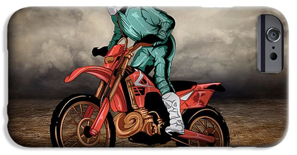 Storm Mixed Media iPhone Cases - Storm Rider V1 iPhone Case by Bedros Awak