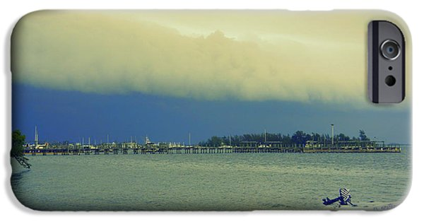 Turbulent Skies iPhone Cases - Storm Rollin In iPhone Case by Laurie Perry