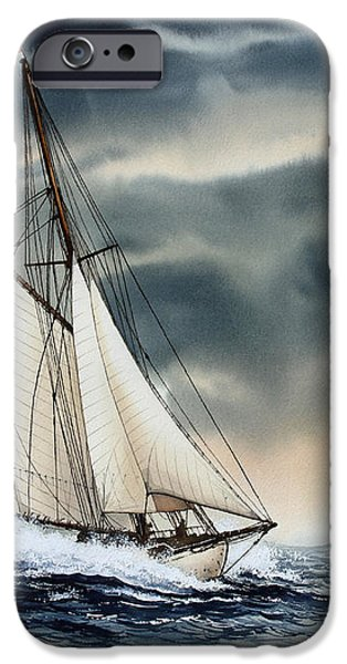 Storm Sailing iPhone Case by James Williamson