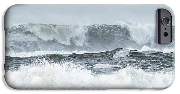 Raining Tapestries - Textiles iPhone Cases - Storm Surge iPhone Case by Dennis Bucklin