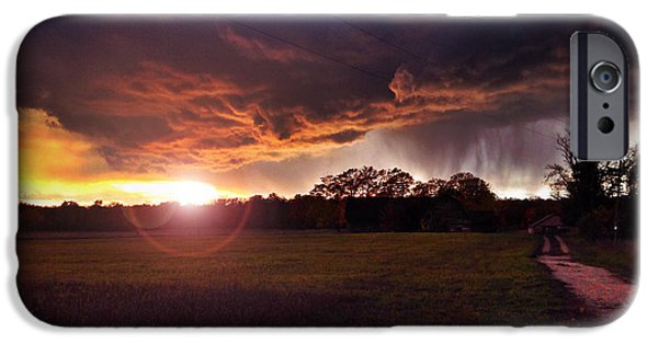 Storm iPhone Cases - Storms a comin iPhone Case by Jeff Klingler