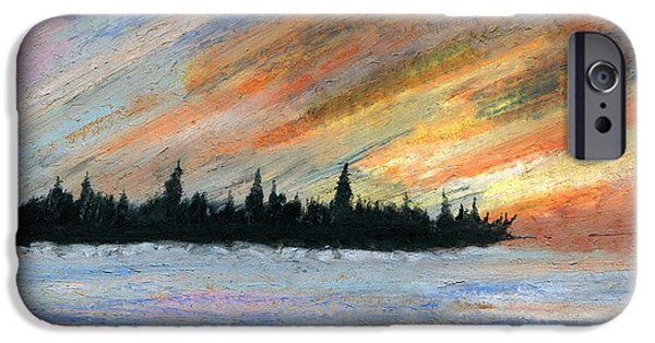 Winter Storm Pastels iPhone Cases - Storms Gone iPhone Case by R Kyllo