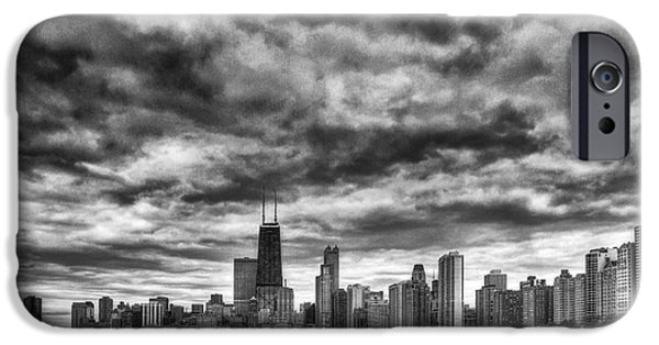 Engulfing iPhone Cases - Storms Over Chicago iPhone Case by Margie Hurwich