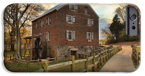 Grist Mill iPhone Cases - Storms Over Kerr Mill iPhone Case by Adam Jewell