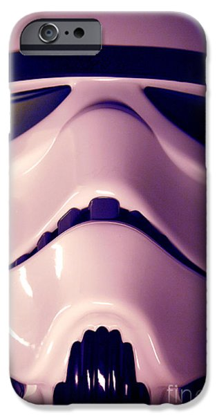 Science Fiction Photographs iPhone Cases - Stormtrooper Helmet 110 iPhone Case by Micah May