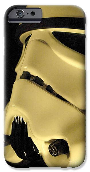 Science Fiction Photographs iPhone Cases - Stormtrooper Helmet 112 iPhone Case by Micah May