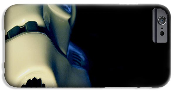 Science Fiction Photographs iPhone Cases - Stormtrooper Helmet 114 iPhone Case by Micah May
